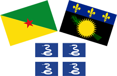 Guadalupe, la Guayana Francesa y Martinica