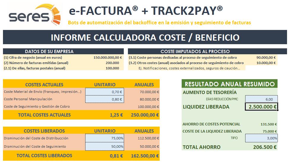 SERES TRACK2PAY - Calculadora COSTES